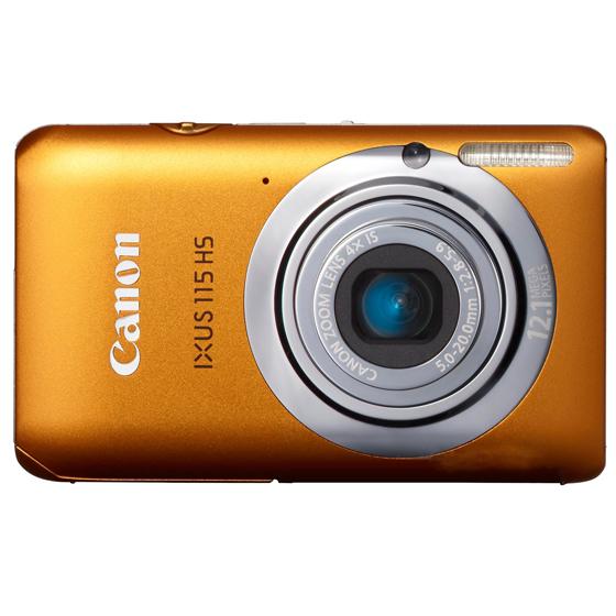 佳能 canon ixus115 hs 数码相机 橙色 0 高清图片