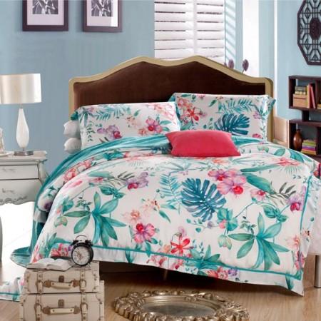 梦洁芭比伦尊享天丝床品套组  墨绿色